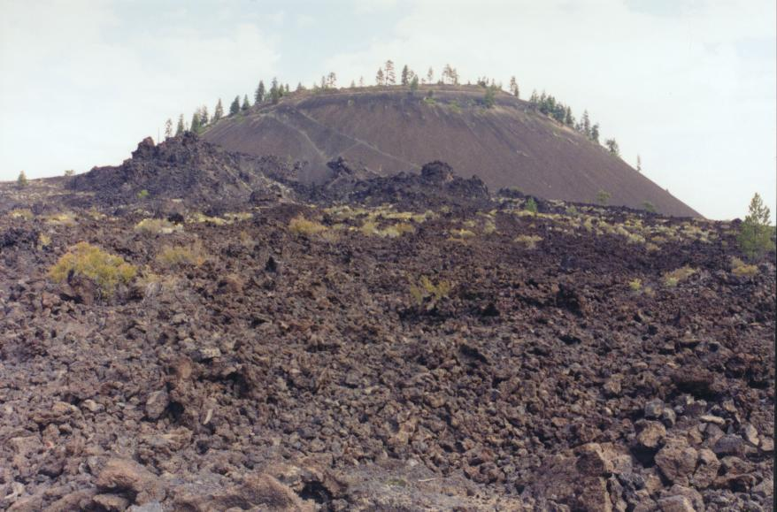 Lava Butte and lava flow
